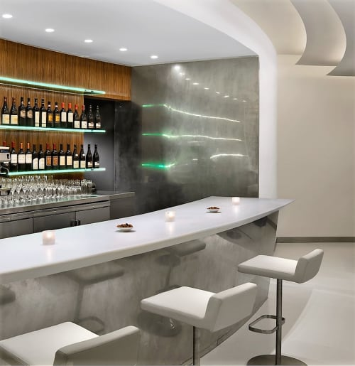 Interior Design by Andre Kikoski Architect seen at The Wright, New York - Custom Bar