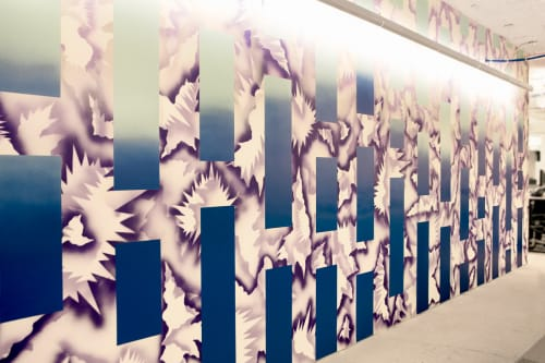 Murals by Hisham A. Bharoocha seen at Facebook, New York, Astor Place, New York - Abstract Mural