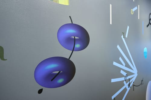 Murals by Genevieve Chua seen at Facebook Way, Menlo Park - Objects in the Ether Are Closer than they Appear