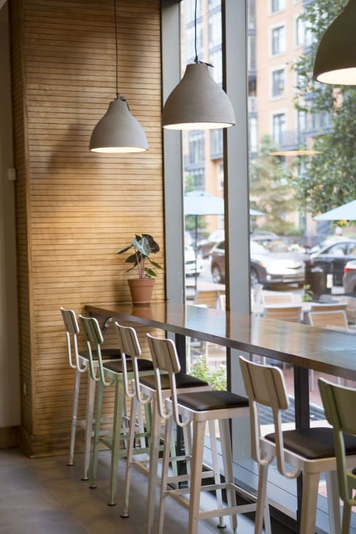 Architecture by DesignCase seen at Chez Lily Coffee Shop, Washington - Chez Lily