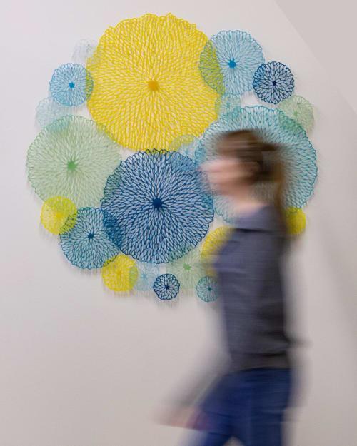 Wall Hangings by Lauren Eastman Fowler seen at Sherrie Gallerie, Columbus - Flora Orbis (Spring)