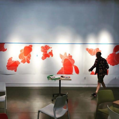 Paintings by Ellen Ziegler seen at California Institute of Integral Studies, San Francisco - Art Installation