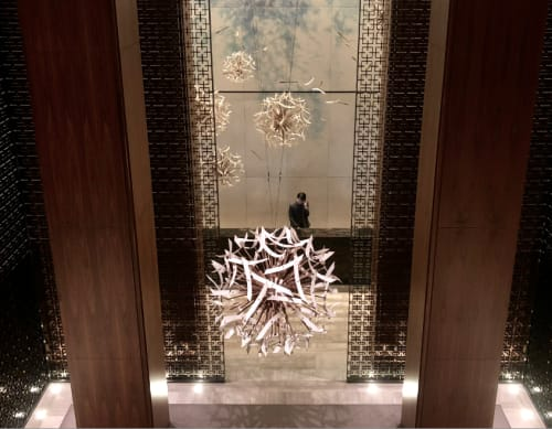 Sculptures by Alissa Coe Studio seen at Four Seasons Hotel Toronto, Toronto - Dandelion Seed Heads