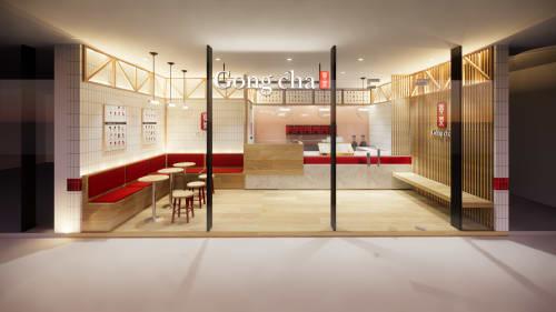 Interior Design by Studio Hiyaku seen at Plumpton Marketplace, Plumpton - Gongcha Plumpton Marketplace