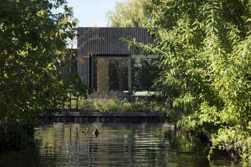 Architecture by i29 seen at Vinkeveense Plassen - Tiny Holiday Home