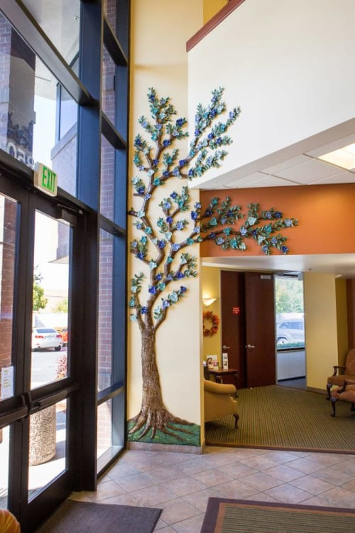 Sculptures by Marsha Wickham Rafter seen at Hospice of the Valley (Affiliate of Sutter Health), San Jose - Hospice of the Valley Tree of Life