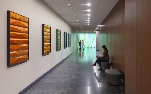Sculptures by MORAN BROWN seen at CPMC Van Ness Campus, San Francisco - Sculpture Installation