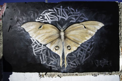 Street Murals by Illunis seen at Atelierstr, München - Mondmotte