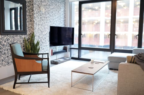 Chairs by Evan Berding Custom Furniture + Woodwork seen at Private Residence, New York - Modern Library Chair