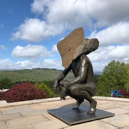 'Sit'   Sculptures by Angus Taylor   Linthwaite House in Bowness-on-Windermere