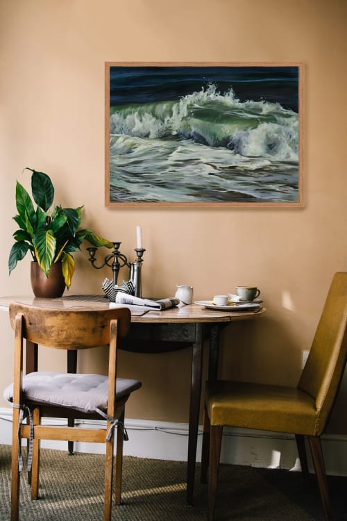 Paintings by Lindsey Millikan (Milli) seen at Bayview, San Francisco - Ocean #14