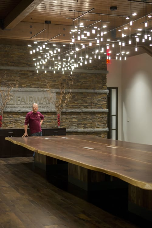 Tables by The Wood Cycle of Wisconsin, Inc. at Fairway Independent Mortgage Corporation - Headquarters, Madison - Walnut Live Edge Table