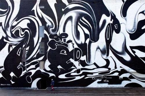 Street Murals by Fresh Max seen at Saint Petersburg, Saint Petersburg - Mural