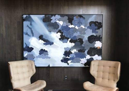 Art & Wall Decor by CC Stapleton seen at Renaissance Dallas at Plano Legacy West Hotel, Plano - Clouded Sunset in Denim