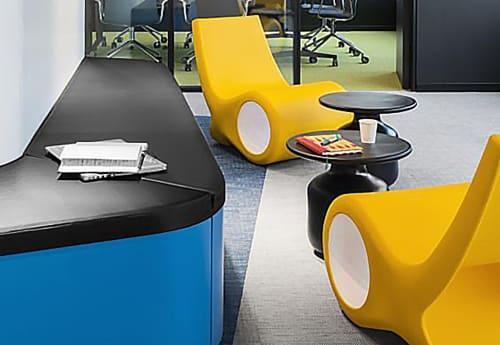 Chairs by Satyendra Pakhalé seen at Microsoft Iberia, Barcelona - Fish Chair