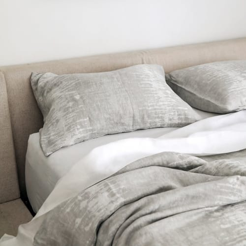 Pillows by Rough Linen seen at Private Residence, Los Angeles - Echo Linen Sham