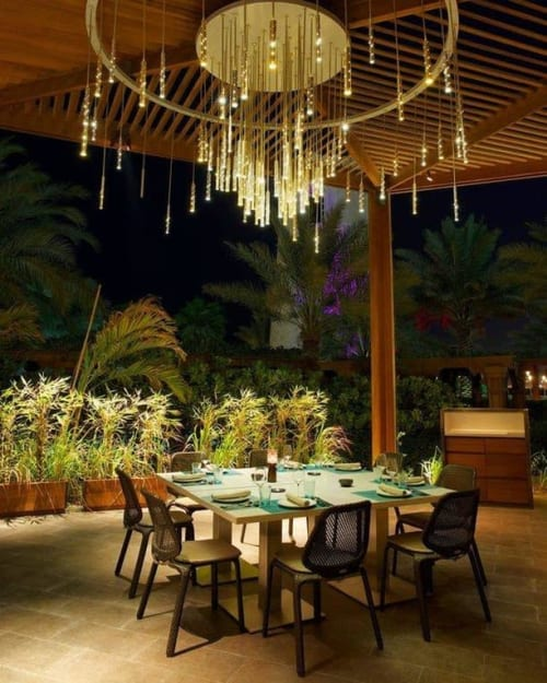 Chandeliers by ILANEL Design Studio seen at Four Seasons Hotel Doha, Doha - 'Desert' Rain - Custom