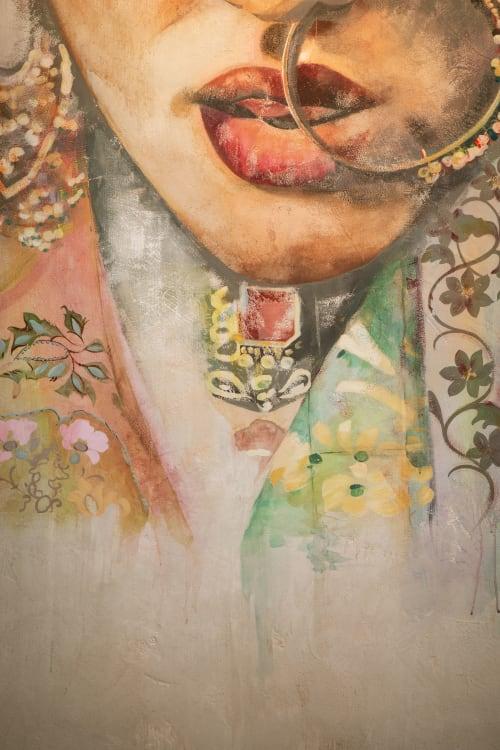Murals by Jessica Kollar seen at Baar Baar, New York - Mural on Distressed Plaster Walls