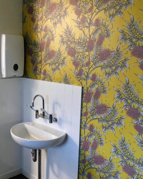Wallpaper by Tamara Design Co seen at Sydney, Sydney - Bees in the Bottlebrush