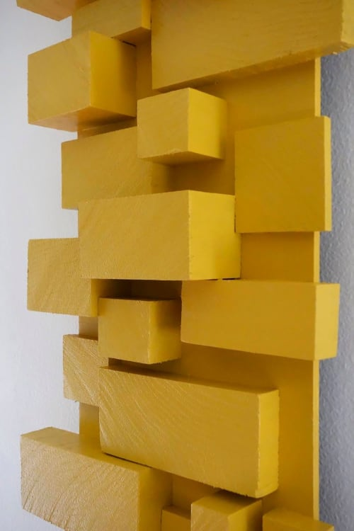 Sculptures by Modern Art Woodworks at Private Residence, Atlanta - Gold Bridge
