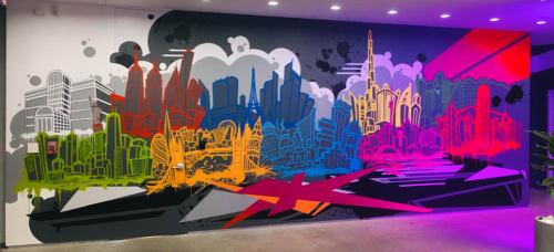 Murals by Aaron Darling seen at Ketra, Austin - Lutron Ketra: 10 Cities