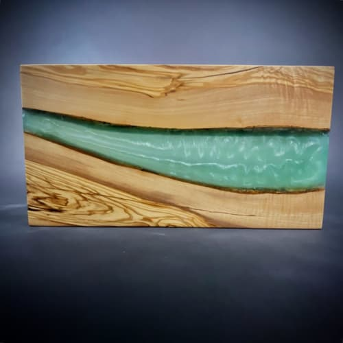 Art & Wall Decor by MLDG Carpentry seen at Private Residence, Toronto - Olivewood and Teal