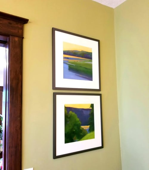 Paintings by Ellen Hopkins Fountain seen at Private Residence, Albuquerque - Views of the Hudson River and Palisades