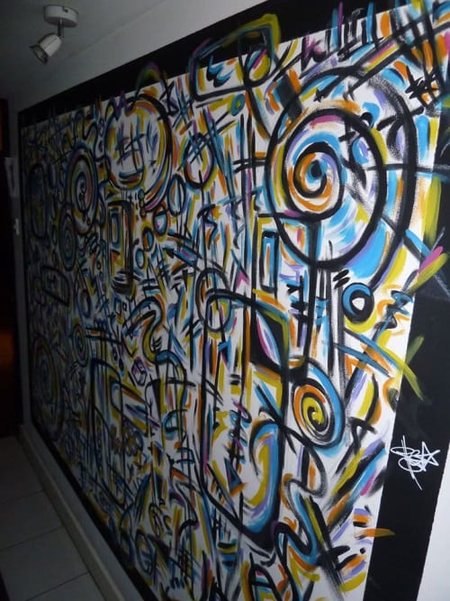 Murals by Gigo seen at Owlcat Artist Collective, Aberdeen - First Score