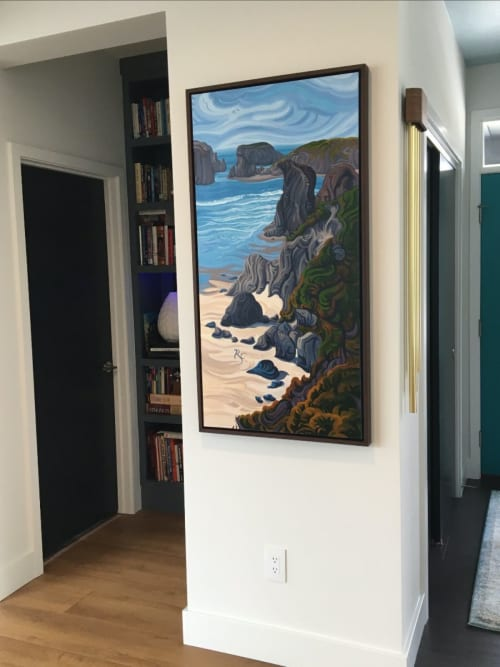 Paintings by Randi Ford seen at Private Residence, Grand Rapids - Painting of the Oregon Coast