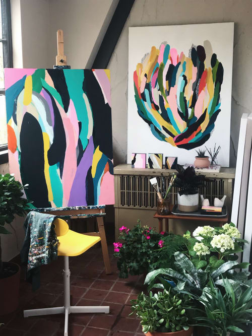 Paintings by Angie the Rose seen at Private Residence, Denver - Flora V