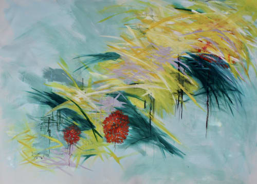 "Paintings by Karen Goetzinger seen at Private Residence - ""Putting Down Roots"""