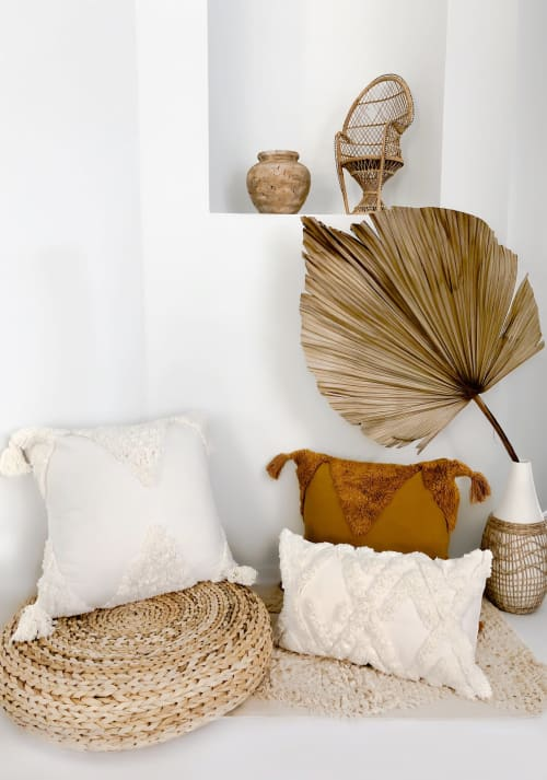Pillows by Coastal Boho Studio seen at Creator's Studio, Destin - Classic Agalia - Natural