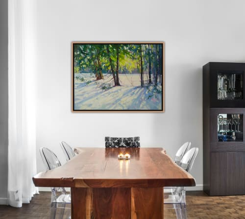 Paintings by Vera Kisseleva seen at Private Residence, Fergus - Winter Landscape Painting