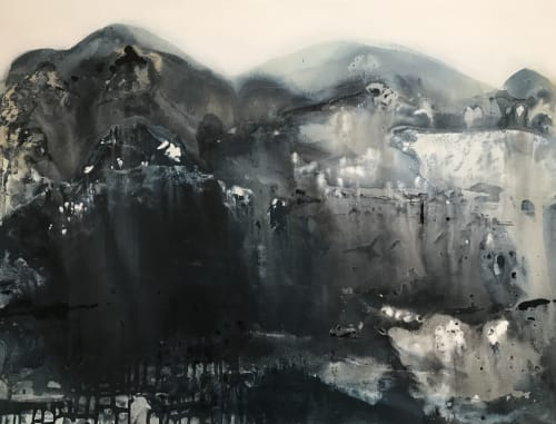 Paintings by Kathleen Rhee seen at .BDA Interiors & Styling (Beyond Design Australia PTY LTD), Griffith - Midnight Mountains