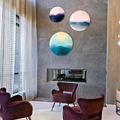 Paintings by Marina Dunbar seen at Olympus Grand Crossing, Katy - Triptych