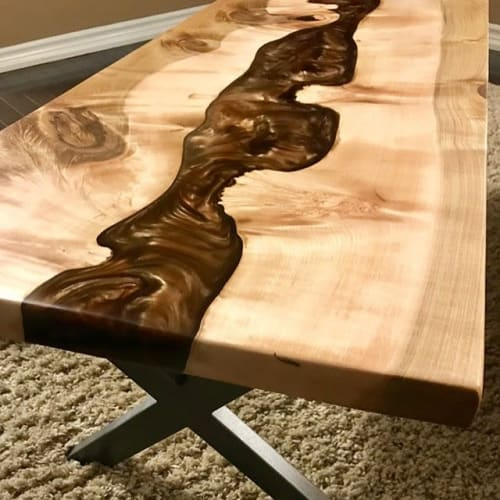 Tables by Kay Casey, Kay At Home seen at Creator's Studio, Milton - Live Edge Coffee Table, River Table