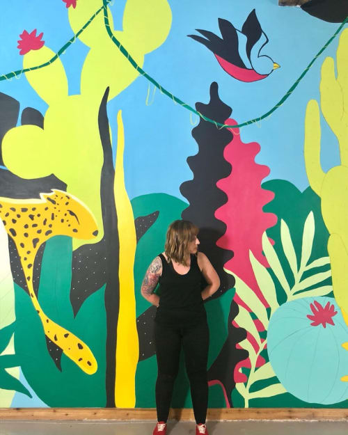 Murals by Meg Wagler seen at Private Residence, Dallas - Indoor Mural