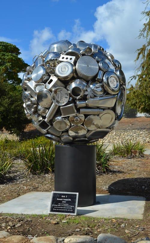 Public Sculptures by Donald Gialanella seen at West Mountain Street, Pasadena - Pasadena Orb