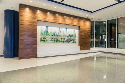 Murals by Shane + Peter Allbritton seen at George R. Brown Convention Center, Houston - Earth & Skyline