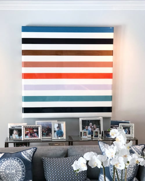 Wall Hangings by Pierce Meehan Design at Private Residence, Miami - Surf Panel Art