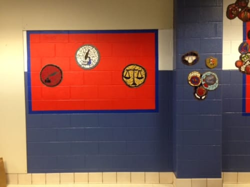 Public Mosaics by Juan-Carlos Perez seen at Richard J Daley Elementary Academy, Chicago - Body Systems, Systems Of Government & Systems Of Literature
