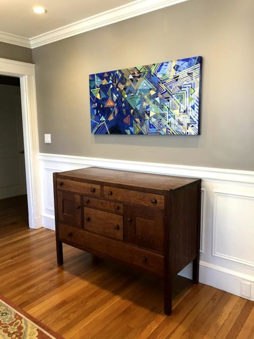 Paintings by Rae Heller seen at Private Residence, Boston - Water and Vines
