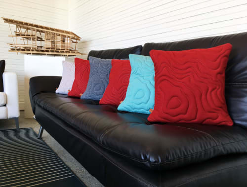 Pillows by SML | Simple Modern Living seen at Private Residence, Seattle - Washington Volcano Topography Pillows