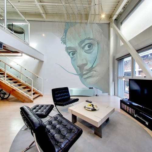 Murals by Zuzugraphics / Diego-t seen at Oriental Warehouse Lofts, San Francisco - Dali Wall Mural