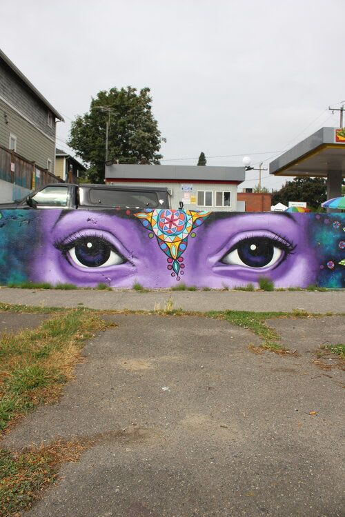 Street Murals by Gabrielle Abbott seen at Private Residence, Seattle - Protector