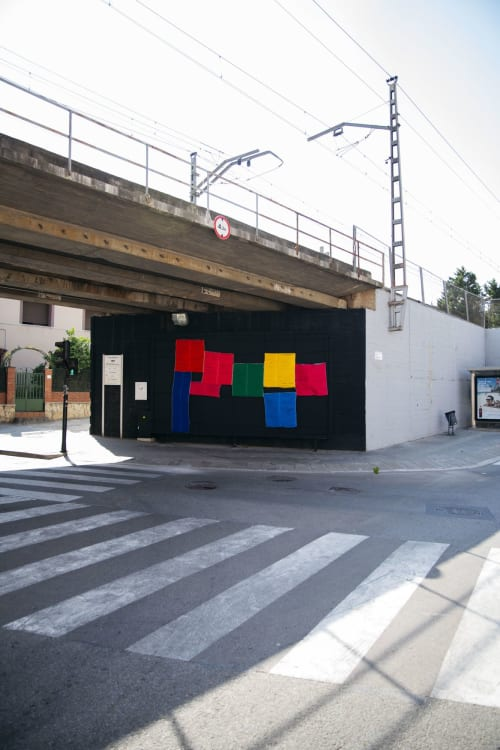 Street Murals by Mariadela Araujo seen at Sant Vicenç dels Horts, Sant Vicenç dels Horts - Planos Cromáticos