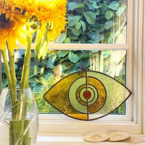 Interior Design by Colin Adrian Glass seen at Private Residence, Al Rideem - Evil Eye in private home