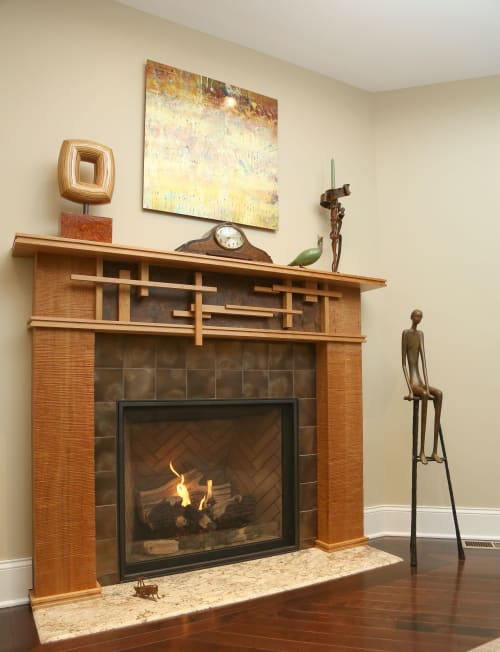 Architecture by Byron Conn Design seen at Private Residence, New York - Custom Fireplace Mantel
