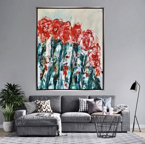 Paintings by shane bowden seen at Private Residence, Avalon Beach - Poppy's in love