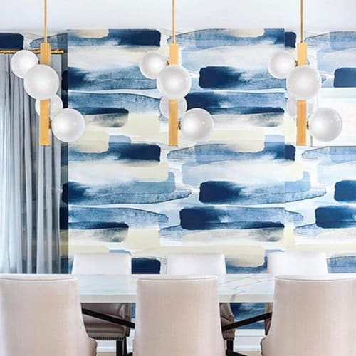 Wallpaper by Emma Hayes seen at Rosedale, Toronto - River Wallpaper - Blue